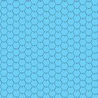 POSTER 16x20 HEXES black on LIGHT BLUE Black numbers by Radwulf