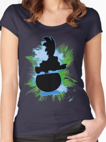 Super Smash Bros. Larry Silhouette Women's Fitted Scoop T-Shirt