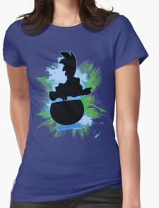 Super Smash Bros. Larry Silhouette Womens Fitted T-Shirt