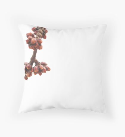 maple buds Throw Pillow