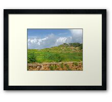 Typical maltese field walls Framed Print