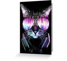 DJ Kitty Greeting Card