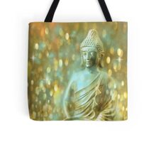 Glowing Meditating Buddha Tote Bag