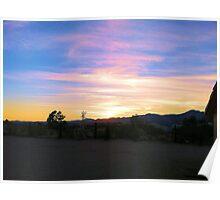 Ridgecrest sunset Poster
