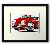 VW Beetle Convertible Cabriolet red Framed Print