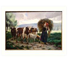 Returning Home by Julien Dupre, c. 1895 Art Print