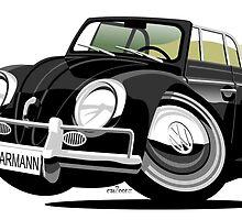 VW Beetle Convertible Cabriolet black by car2oonz