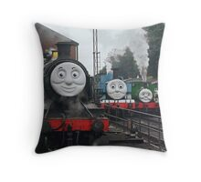 Peep!! Peep!!, Said Thomas Throw Pillow