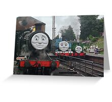 Peep!! Peep!!, Said Thomas Greeting Card