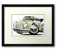 VW Beetle Convertible Cabriolet cream Framed Print