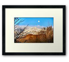 Moon over LP hill Framed Print