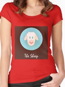 The Sheep Cute Portrait Women's Fitted Scoop T-Shirt