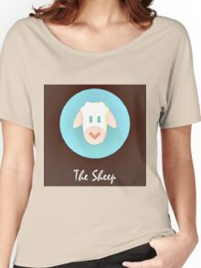 The Sheep Cute Portrait Women's Relaxed Fit T-Shirt