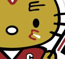 Hello Kitty Blackhawks Sticker