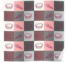 Seamless pattern Dolce vita Poster
