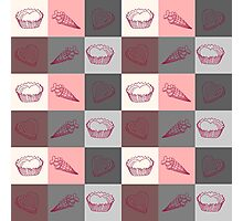 Seamless pattern Dolce vita Photographic Print
