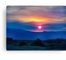 Socal fire sunset Canvas Print