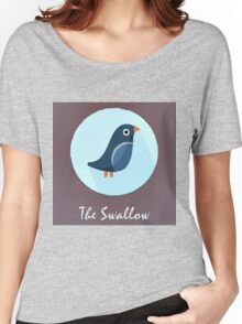 The Swallow Cute Portrait Women's Relaxed Fit T-Shirt