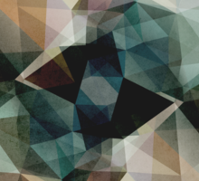 Abstract Grunge Triangles Sticker