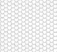 POSTER; 16x20 HEXES Blacklines on WHITE. Black numbers by Radwulf