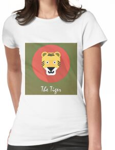 The Tiger Cute Portrait Womens Fitted T-Shirt