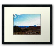 Sunet over the Alabama Hills Framed Print