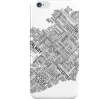 Ireland Eire City Text map iPhone Case/Skin