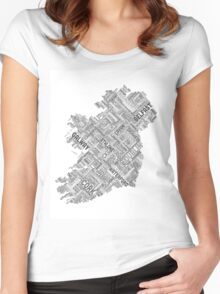 Ireland Eire City Text map Women's Fitted Scoop T-Shirt