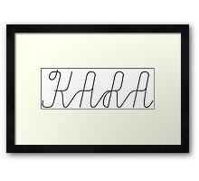 kara Framed Print
