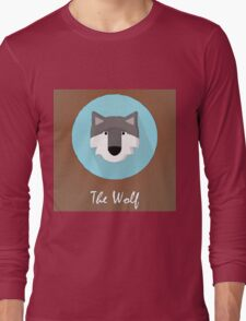 The Wolf Cute Portrait Long Sleeve T-Shirt