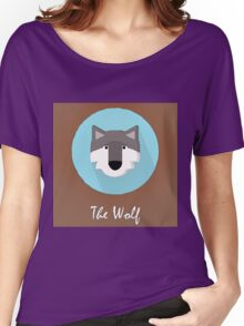 The Wolf Cute Portrait Women's Relaxed Fit T-Shirt