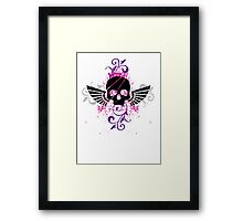 Skull and Wings Framed Print