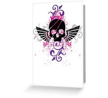 Skull and Wings Greeting Card