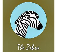 The Zebra Cute Portrait Photographic Print