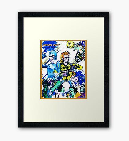 Capcom zombies Framed Print