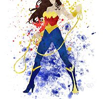 WonderWoman Splatter Art by ProjectPixel