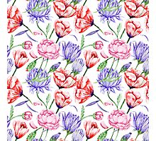 Watercolor Floral Pattern Photographic Print