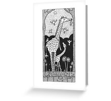 Jolly Giraffes Greeting Card