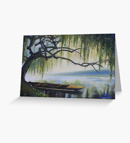 Willow Boat Greeting Card