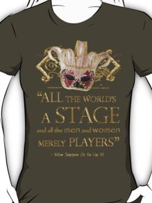 Shakespeare As You Like It Stage Quote T-Shirt