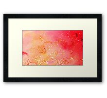 GARDEN OF THE LOST SHADOWS MAGIC GOLD SPARKLES Framed Print
