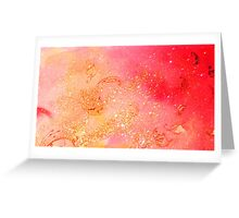 GARDEN OF THE LOST SHADOWS MAGIC GOLD SPARKLES Greeting Card