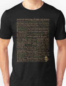 Shakespeare Insults T-shirt - Revised Edition (by incognita) Unisex T-Shirt