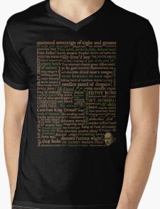 Shakespeare Insults T-shirt - Revised Edition (by incognita) Mens V-Neck T-Shirt