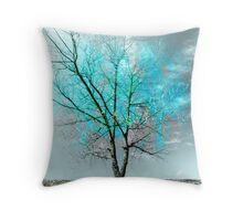 evaporating ice Throw Pillow