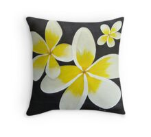 Yellow Frangipani's Throw Pillow