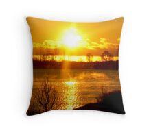 Sunrise VI (waterfront lake Ontario) Throw Pillow