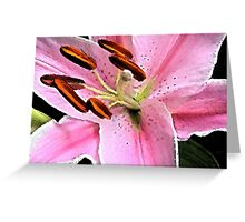 Bright Star Gazer Lily Greeting Card
