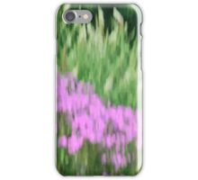 Abstract Purple and Green Flowers Photography - Summer Garden iPhone Case/Skin