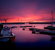 Avoch Harbour dawn by Fraser Ross